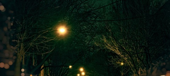 Dark Chicago Winter Streets